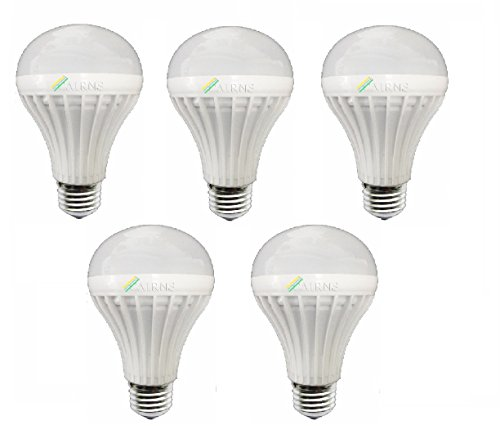 7W White E27 LED Bulb (Set of 5)