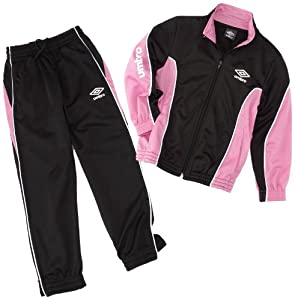 Umbro World Knit Suit Survêtement fille Mica/Rose/Blanc FR : 10-12 ans (Taille Fabricant : 138)