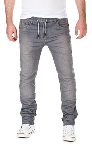 WOTEGA Uomo Jogg Sweatpants in Jeans-Look Joshua slim , grey used (20422), W29/L34