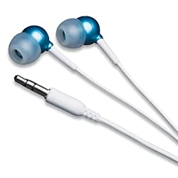MobileSpec In-Ear Earbud Headphone for iPods/MP3 Players with 3.5mm Plug (Blue)