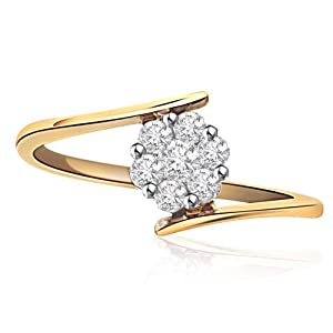 Junglee.com: Surat Diamonds Women Girls Ring SDR 83 Gold White