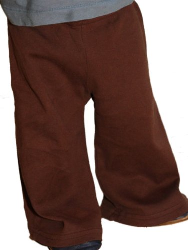 BabyLuxe YogaColors 4032 Emoticon Baby Rib Karate Pants - 14 Colors and Super soft (12-18 months, Brown)
