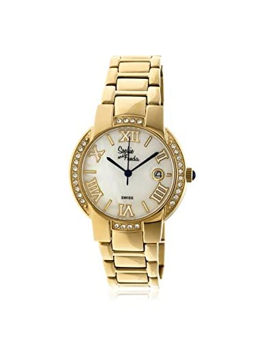 Sophie And Freda Women's SAFSF1903 Palm Springs Gold/White Stainless Steel Watch