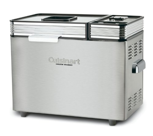 Cuisinart 680 Watt Convection 2 Pound Breadmaker, 16 Preset Menu Options, and Audible Tones with a 12-Hour Delay-Start Timer, Includes Nonstick Baking Pan & Paddle, BONUS Recipe Booklet (Cuisinart Automatic Bread Make compare prices)