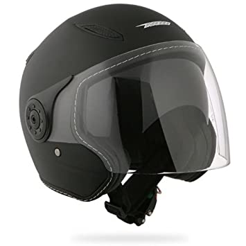 NOX Casque Moto/Scooter Jet N180 Noir mat