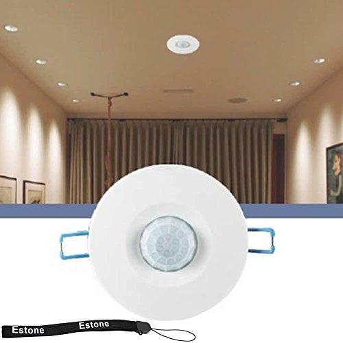 Estone® 220V Recessed Pir Ceiling Occupancy Motion Sensor Detector Light Switch front-504863
