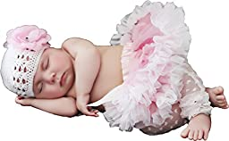 Huggalugs Baby Girls Pettiskirt Newborn Light Pink/White