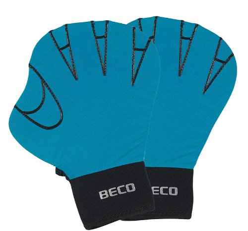 BECO Neporen Schwimmhandschuhe Neporen Handschuhe Aqua Training Gloves S türkis