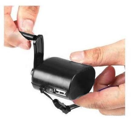 Innovative Digital Hand-Crank USB Cell Phone Emergency Charger for Apple iPhone 3G/3GS/4/4S