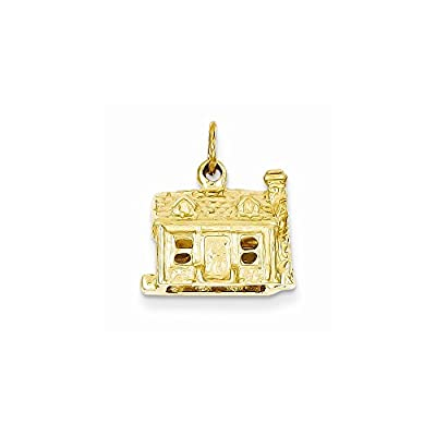 14k Gold 3-D House Charm