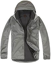 LANGZUYOUDANG Men39s Outdoor Waterproof Warm Jacket Detachable Cap Windproof Breathability - Orange