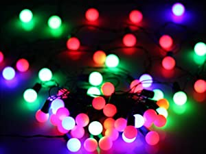 6M 50-LED AC110-220V Ball Shape String Light Festival for Xmas Christmas Garden Party Wedding Fairy