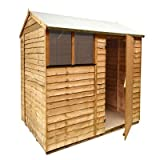 BillyOh 7 x 6 Extra Tall Rustic Overlap Reverse Apex Wooden Garden Shed