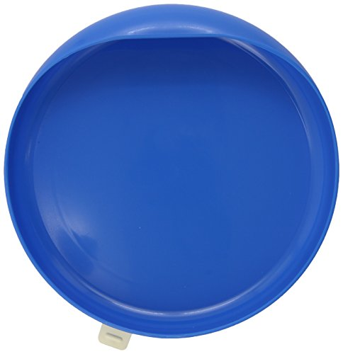Ableware 745350012 Scooper Plate with Suction Cup Base, Blue