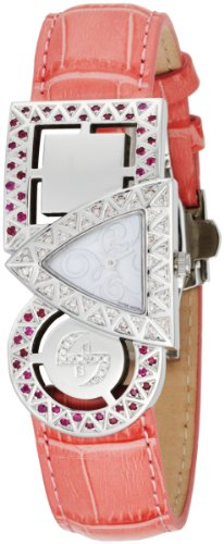 Swisstek Women's SK21909L Equilibre Ruby and Pink Diamond Quartz Watch