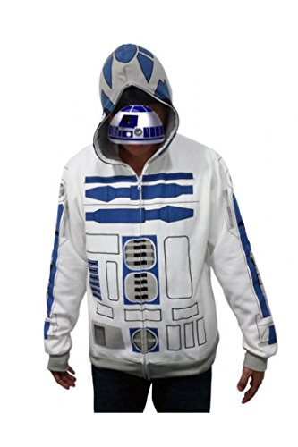 [Dben Cosplay R2D2 Rebellion I Am R2-D2 Hoodie Cosplay Costume] (R2d2 Costume Pattern)