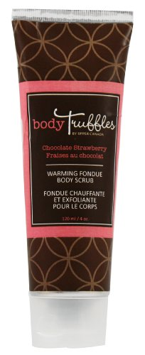Upper Canada Soap & Candle Body Truffles Warming Fondue Scrub, Chocolate Strawberry, 4Ounce Tubes (Pack of 2)