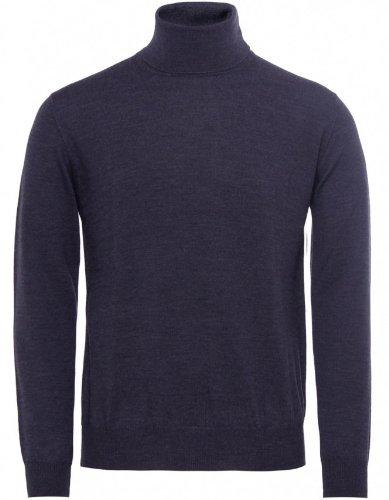 Pal Zileri Men's Sweater Grey Roll Neck Jumper XL