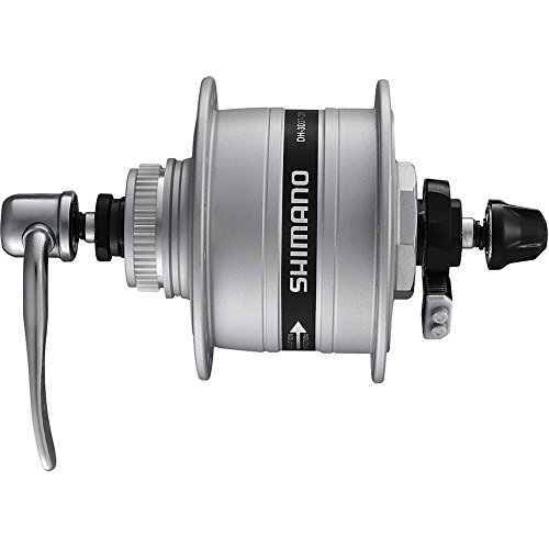 Shimano VR-Nabendynamo A-DH3D37 3W 100mm 32 Loch Centerlock, SNSP silber Fahrrad