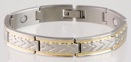 Sabona 25065 Wheat Chaff Duet Magnetic Bracelet, Small
