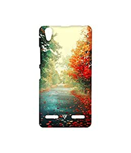 Vogueshell Autumn season Printed Symmetry PRO Series Hard Back Case for Lenovo A6000 Plus