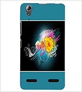 PrintDhaba Flower D-1328 Back Case Cover for LENOVO A6000 PLUS (Multi-Coloured)