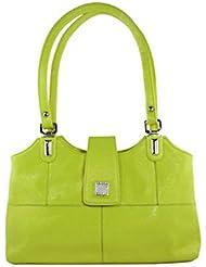 KARP Women's Vintage Casual Stylish Fluorescent Green PU Leather Multi Compartment Large Capacity Shoulder Handbag...