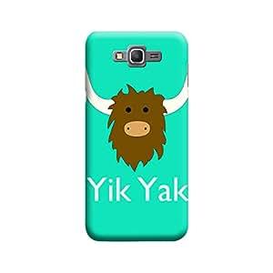Desicase Samsung Grand Prime Yik Yak 3D Matte Finishing Printed Designer Hard Back Case Cover (Green)