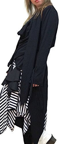 [Hippies Men's Dorape Vkei Tailcoat Cut & Sewn Tshirts One Size,Black 550489] (Womens Tailcoat Costume)