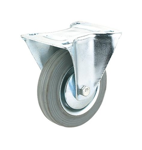 Steelex D2584 5-Inch 220-Pound Fixed Rubber Plate Caster GrayB0000DD1D9 : image