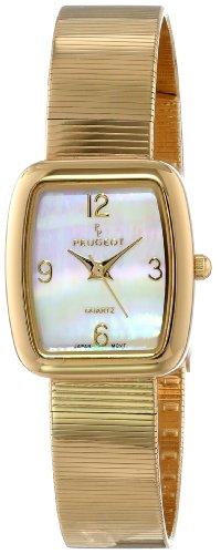 Peugeot Women's PQ13629G Gold-Tone Spiral Mesh Bracelet Watch