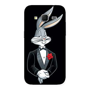 Ajay Enterprises WoSmart Bunny Black Red Back Case Cover for Galaxy Core Prime