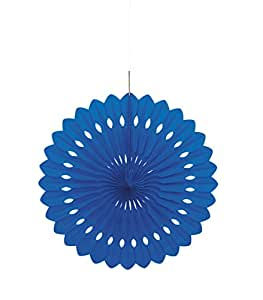 "Charmed Celebrations Charmed Celebrations PARTY DÉCOR BLUE 16"" DECORATIVE FAN"
