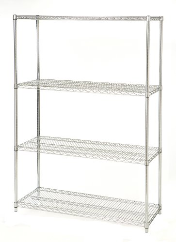 Seville Classics 4 Shelf, 18-Inch by 48-Inch by 72-Inch Shelving System, NSF Image