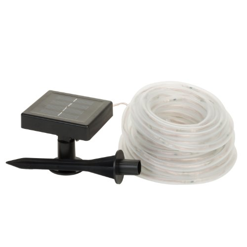 Solar 100 White Led 32 Foot Rope Light