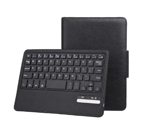Jute Ipad Mini Case Bluetooth Keyboard Tablet Stand Leather Case For New Apple Ipad Mini 7.85 Inch / The Ipad Mini 7 Inch / Built-In Stand For Apple Ipad Mini 7.85 Inch Latest Generation 4G