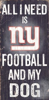 Fan Creations N0640 New York Giants Football And My Dog Sign (Nyg Football compare prices)
