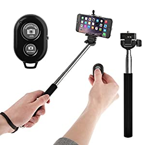 yousave accessories selfie stick handheld telescopic monopod with mobile phone. Black Bedroom Furniture Sets. Home Design Ideas