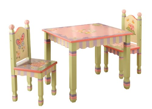 Teamson Kids Girls Table and Chairs Set - Magic Garden Room Collection