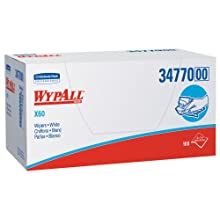 "Kimberly-Clark Wypall X60 Reinforced Disposable Wiper, 23"" Length x 11"" Width, White (9 Packs of 100)"