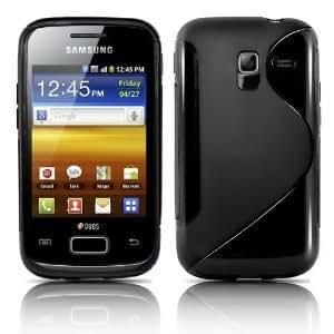 S-Line Design Noir Coque de protection Silicone pour Samsung Galaxy Ace 2 i8160