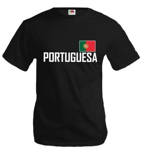 T-Shirt Portugal-XXXL-Black-