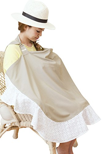 Sweet Mommy Cotton Lace Wired Nursing Cover with carrying pouch BEF