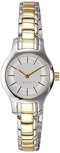 Esprit  ES107082002 - Reloj de cuarzo para mujer, con correa de acero inoxidable chapado, color plateado