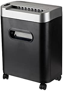 AmazonBasics7- to 8-Sheet Micro-Cut Paper / CD / Credit Card Shredder with Pullout Basket