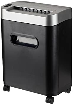 AmazonBasics 8-Sheet Micro-Cut Paper/CD/Credi​t Card Shredder with Pullout Basket