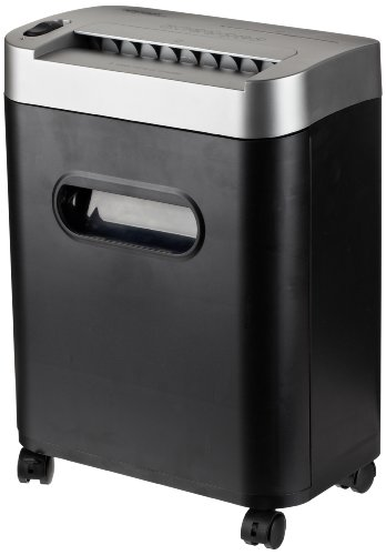 Amazonbasics 8-Sheet Micro-Cut Paper, Cd, And Credit Card Shredder With Pullout Basket