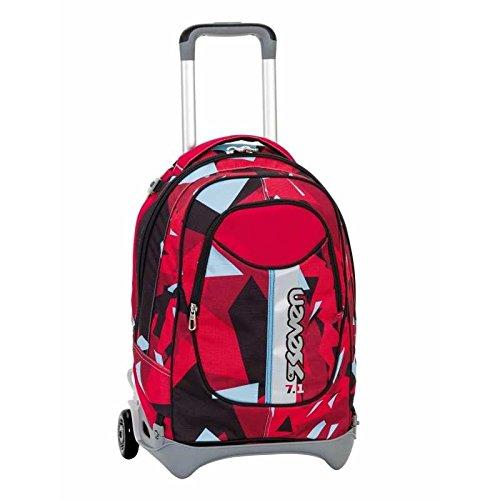b666acf5d7 3 in 1 ZAINO TROLLEY SEVEN NEW JACK – JOG – Nero Rosso Azzurro – SGANCIABILE  e LAVABILE – Scuola e viaggio