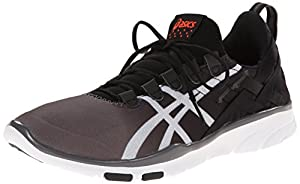 ASICS Women's GEL-Fit Sana Cross-Training Shoe, Black/White/Coral, 10.5 M US