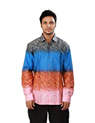 Hope 637-S Men'S Pure Cotton Full Sleeve Club Wear Shirt - XL